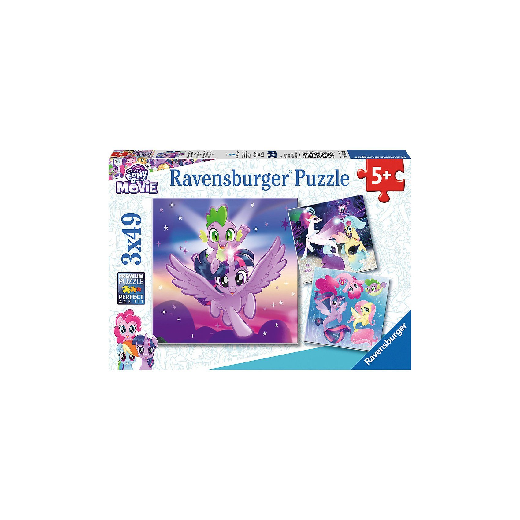 Ravensburger Abenteuer mit den Ponys 3 x 49 Teile