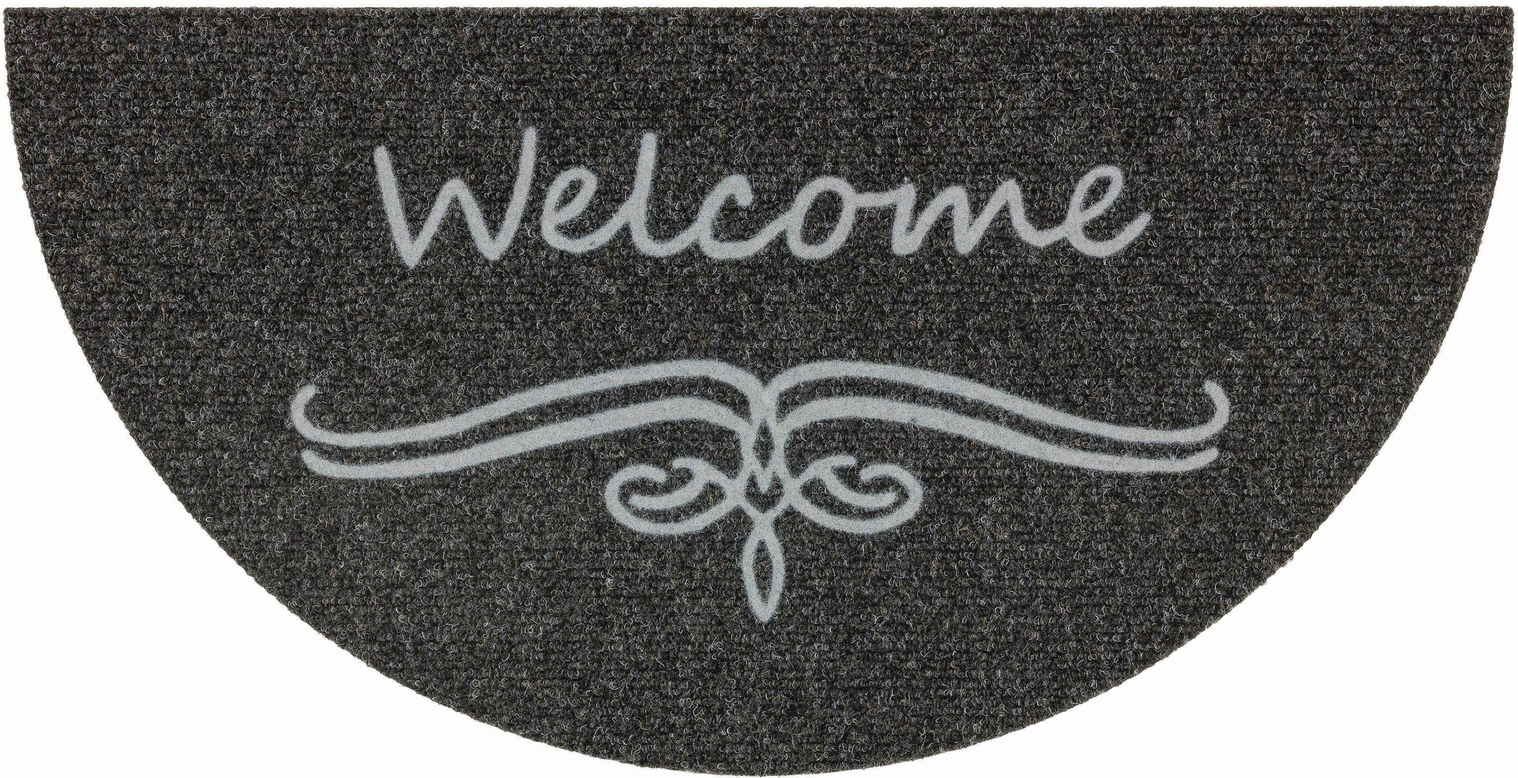 Fußmatte »Flocky Circle 75«, ASTRA, halbrund, Höhe 8 mm, halbrund
