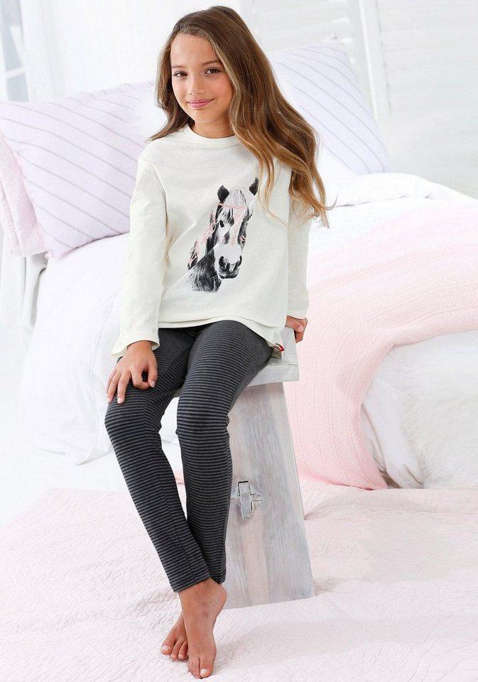 s.oliver red label bodywear mädchen pyjama mit pferde