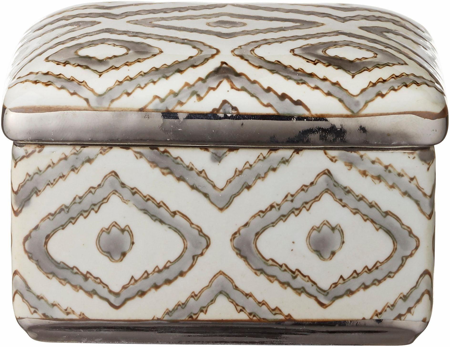 Lene Bjerre Dose mit Deckel »Camelia«, aus Keramik mit Silberplattierung
