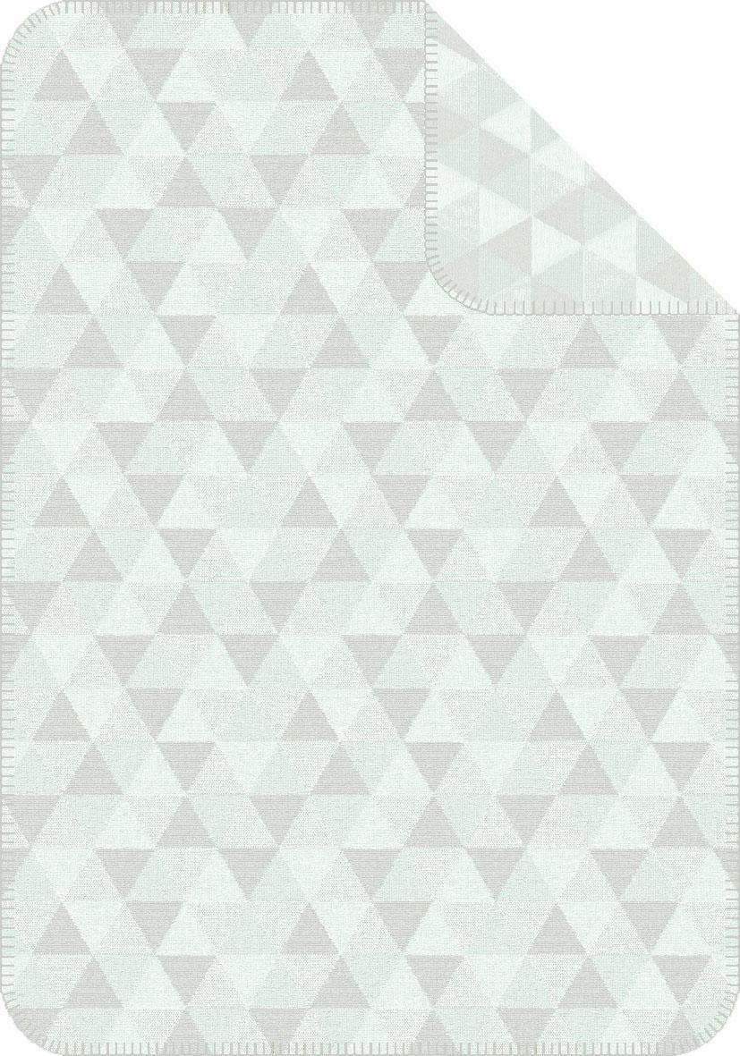 Babydecke, Ibena, »Malem«, mit angedeuteten Dreiecken | Kinderzimmer > Textilien für Kinder > Babytextilien | Baumwolle | IBENA