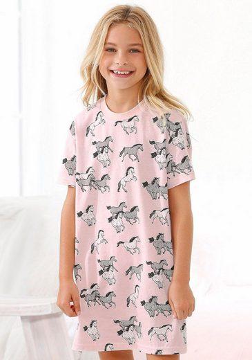 petite fleur Nachthemd mit Allover Pferde-Druck