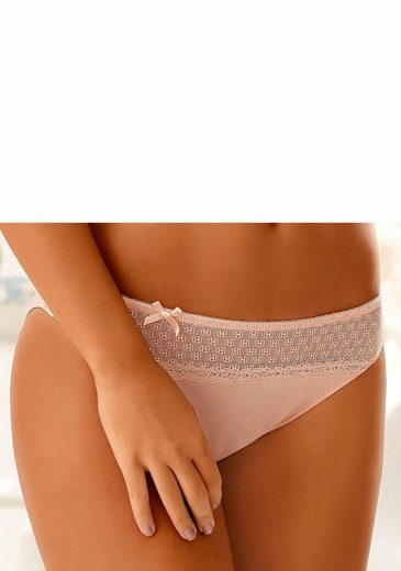 LASCANA Bikinislip mit grafischer Spitze