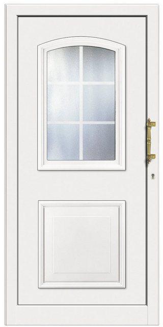 KM MEETH ZAUN GMBH Kunststoff-Haustür »KT258«, BxH: 108x208 cm, weiß, Anschlag rechts | Baumarkt > Modernisieren und Baün > Türen | Weiß | KM Zaun