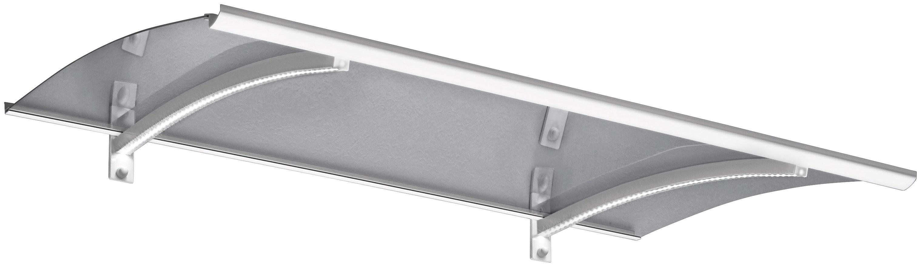 Gutta Pultvordach »LED-Technik«, 150x90x22 cm, weiß-transparent