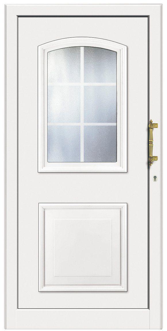 KM MEETH ZAUN GMBH Kunststoff-Haustür »KT258«, BxH: 98x208 cm, weiß, Anschlag rechts