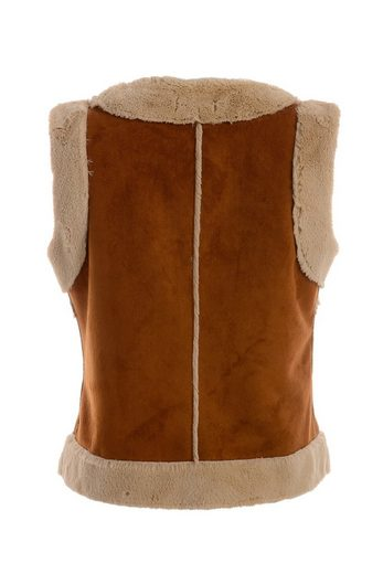 Tuzzi Vest In Fur Optics With Embroidery