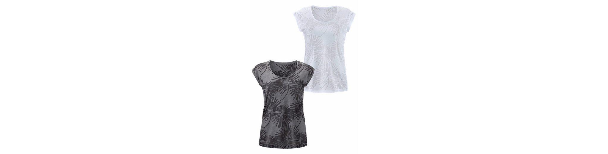 Beachtime T-Shirts (2 Stück) in Palmen-Ausbrenner-Optik Wiki Zum Verkauf Günstig Kaufen Mit Paypal pcITzZgH