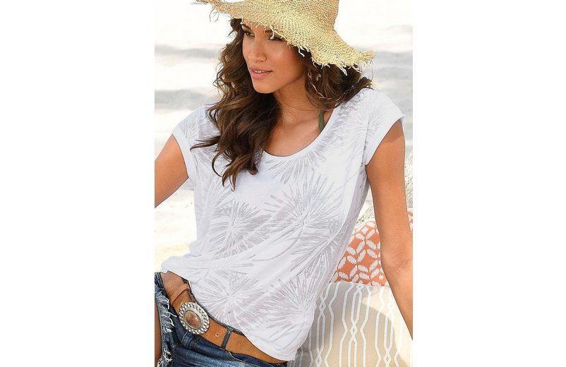 Beachtime T-Shirts (2 Stück) in Palmen-Ausbrenner-Optik Verkauf 2018 qmXmfFGI