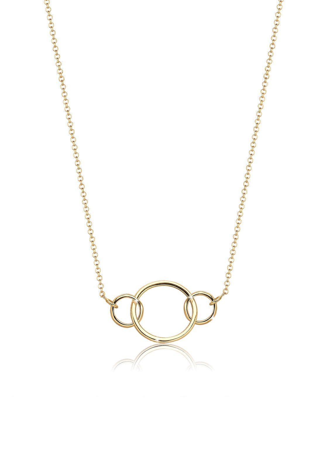 Goldhimmel Halskette »Kreise Geo Trend 925 Sterling Silber«