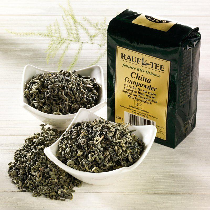 Rauf Tee Rauf Tee Grüner Tee China Gunpowder Bio