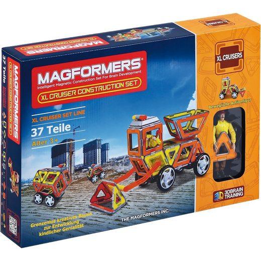 MAGFORMERS XL Cruiser Construction Set 37T LED-Licht + Bookl