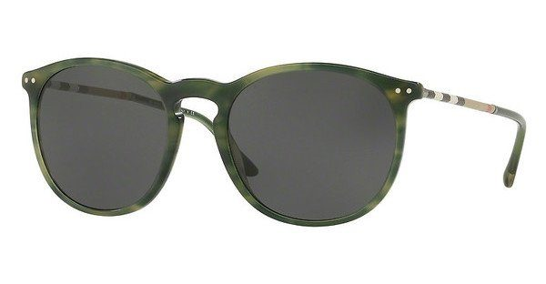 BURBERRY Burberry Herren Sonnenbrille » BE4250Q«, braun, 327887 - braun/grau