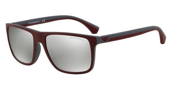 Emporio Armani Herren Sonnenbrille » EA4033«, rot, 56166G - rot/silber