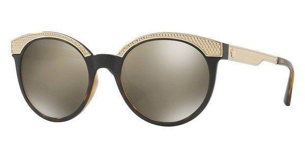 Versace Damen Sonnenbrille » VE4330«, braun, 108/5A - braun/gold