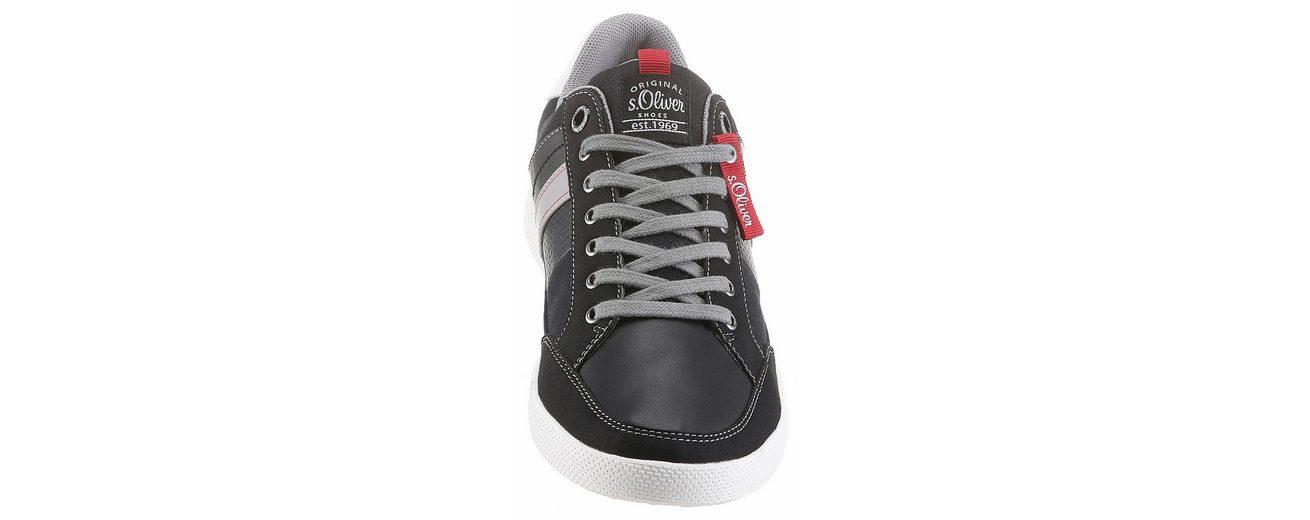 Sneaker s s Einsatz seitlichem Logo RED Oliver Oliver mit LABEL 5XqwAHPq
