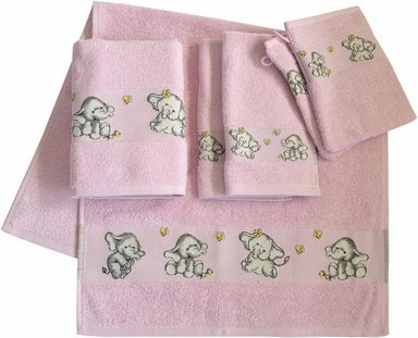 Dyckhoff Handtuch Set »Elefant 2«, mit feiner Bordüre und Elefanten Motiv