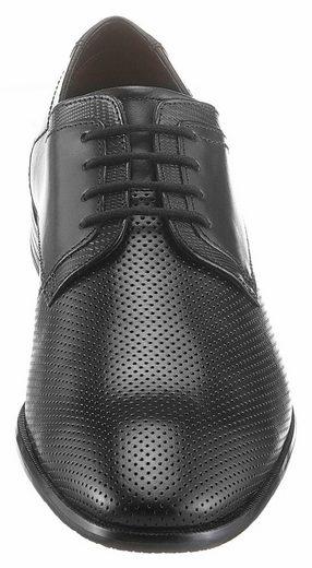 Bugatti Schnürschuh, mit modischer Perforierung