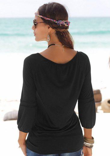 Buffalo Strandshirt mit zartem Frontdruck
