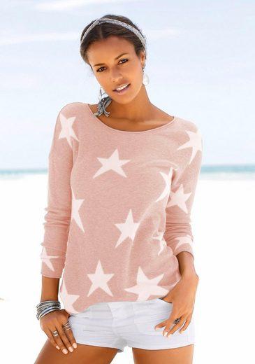Mit Lascana Strandpullover Strandpullover Eingestrickten Sternen Lascana Uaq0ORrFa