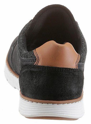 Bullboxer Sneaker, mit Schaftrand aus Textil