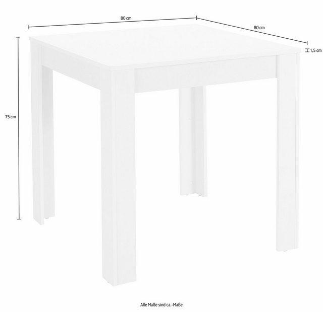 Essgruppen - Essgruppe, (Set, 5 tlg), Tischbreite 80 cm in schieferfarben  - Onlineshop OTTO