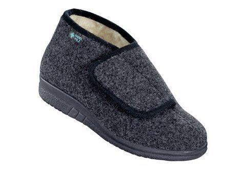 Landgraf Textil-Hausstiefel mit Wörishofer Fußbett in grau