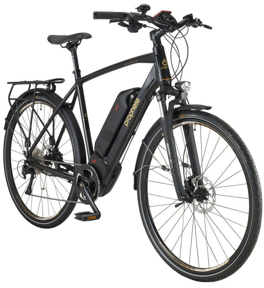 Prophete PROPHETE E-Bike Trekking Herren »ENTDECKER e880«, 28 Zoll, 10-Gang, AEG-Mittelmotor, 468 Wh