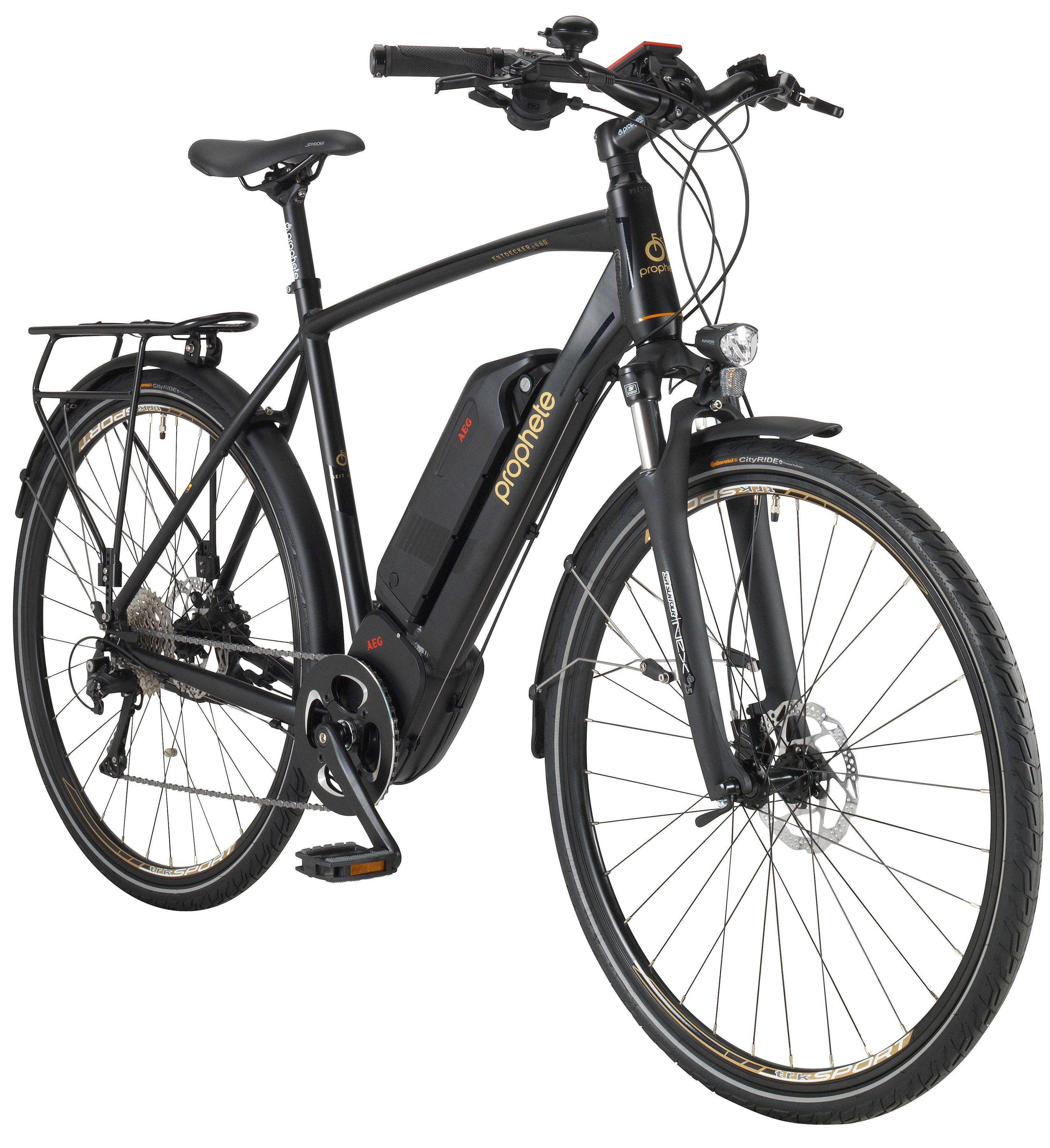 PROPHETE E-Bike Trekking Herren »ENTDECKER e880«, 28 Zoll, 10-Gang, AEG-Mittelmotor, 468 Wh