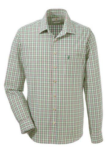 Herren Almsach Trachtenhemd mit kleiner Hirschstickerei grün   04250905516113