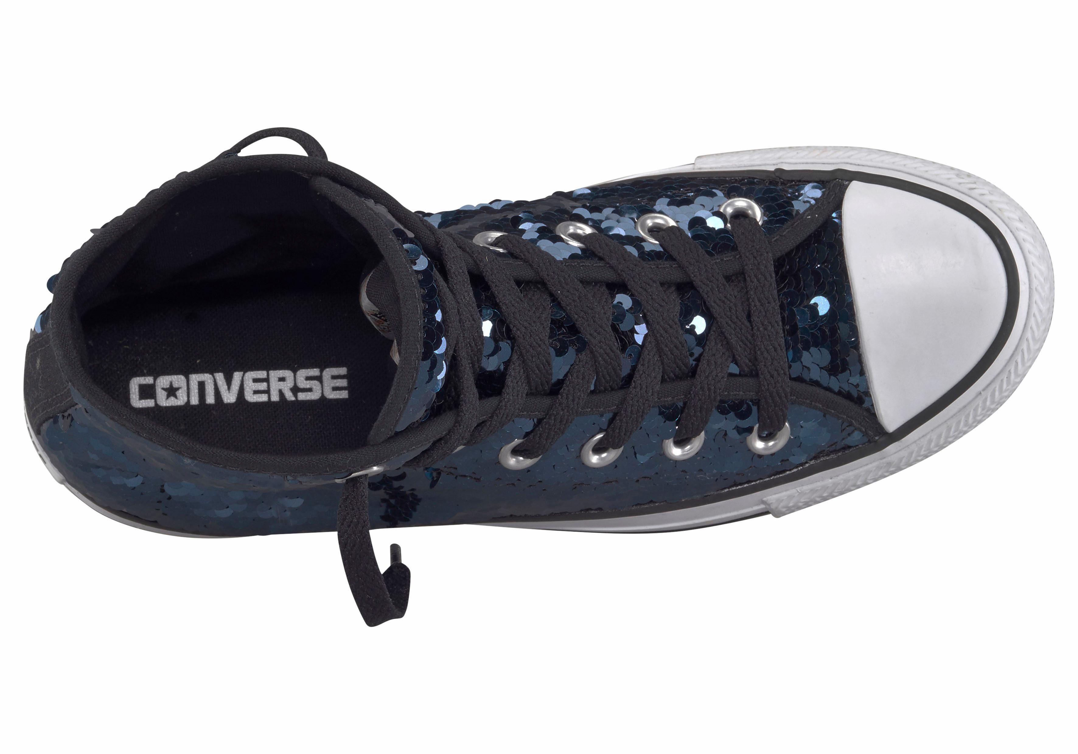 Converse Chuck Taylor All Star Pailetten Sneaker  dunkelblau