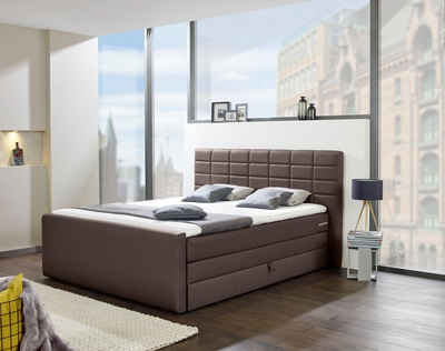 INOSIGN Boxspringbett »Lethbridge«, mit Bettkasten, wahlweise in Überlänge 220 cm