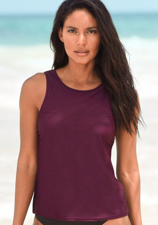 LASCANA Bade-Shirt, mit Unterbrustgummi