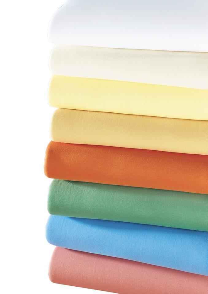 Zwirn-Jersey-Spannbetttuch »Luxus« in flieder
