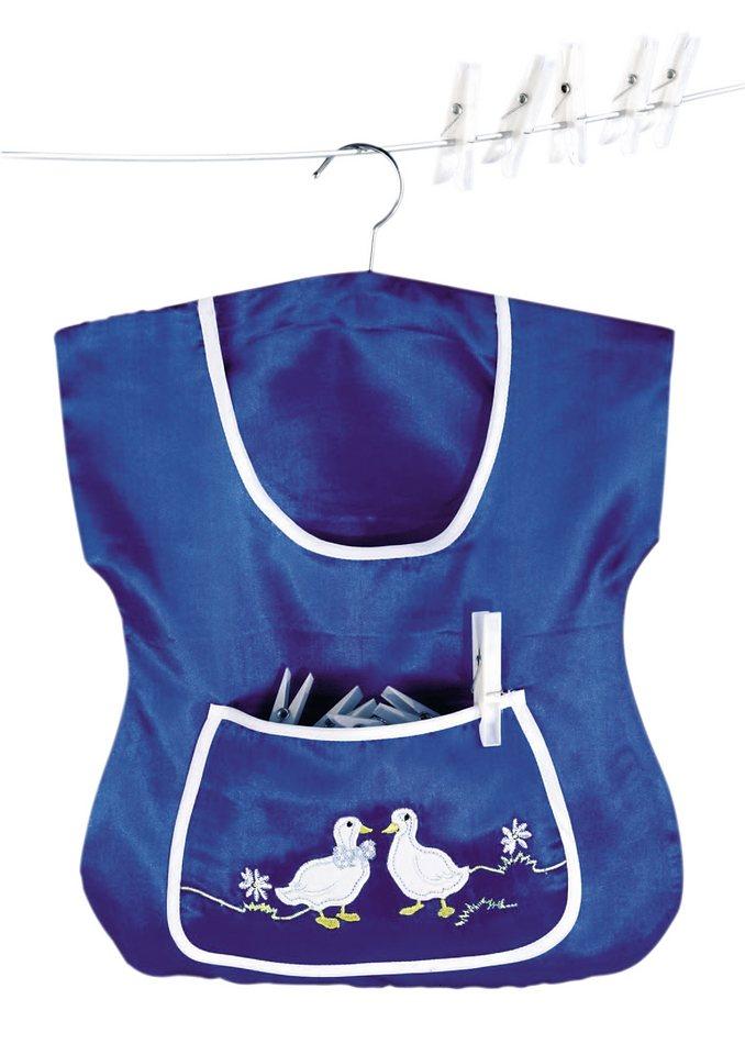 Wäscheklammer-Beute in blau