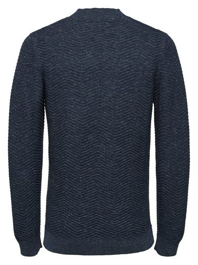 Selected Homme Stehkragen Strickpullover