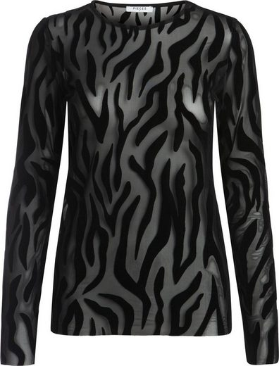 Pieces Zebra-Print Bluse