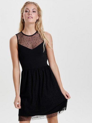 Only Mesh Kleid ohne Ärmel