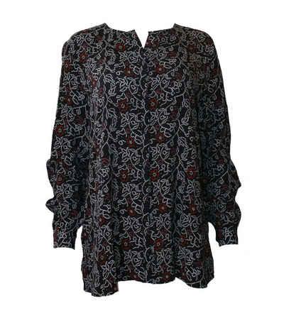 Replay Blusentop »REPLAY Langarm-Bluse reizende Damen Ausgeh-Bluse mit geblümtem Muster Mode-Bluse Schwarz«