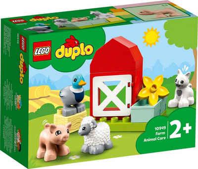 LEGO® Konstruktionsspielsteine »Tierpflege auf dem Bauernhof (10949), LEGO® DUPLO® Town«, (11 St), Made in Europe