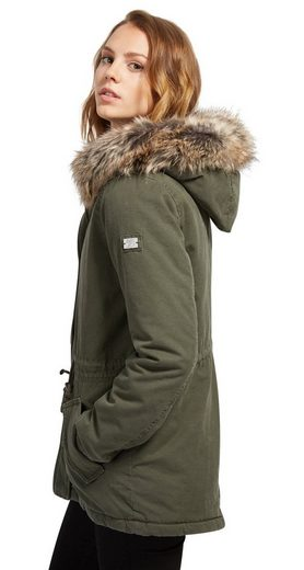 Tom Tailor Denim Parka Parka mit Fake-Fur-Kapuze