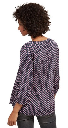 Tom Tailor Shirtbluse gemusterte Loose-Fit Bluse