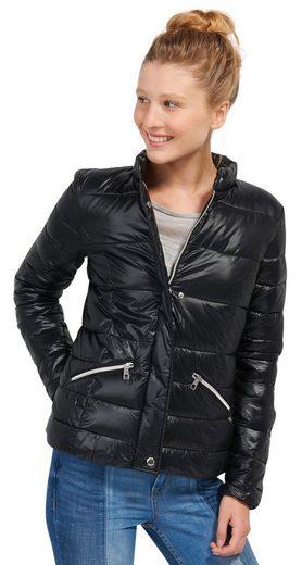 Tom Tailor Denim Steppjacke Stepp-Jacke mit Stehkragen