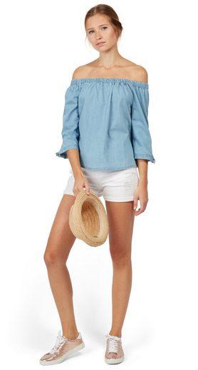 Tom Tailor Denim Shirtbluse Carmen-Bluse aus Denim