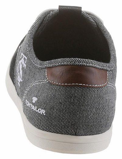 Tom Tailor Sneaker, In Two-tone Denim-look