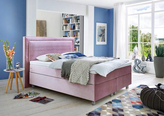 GMK Home & Living Boxspringbett, mit Komfortschaum-Topper