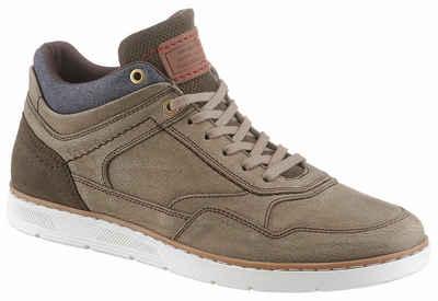 sneaker high kaufen, hohe sneaker f�r herren online otto  petrolio sneaker mit stylischem jeans einsatz