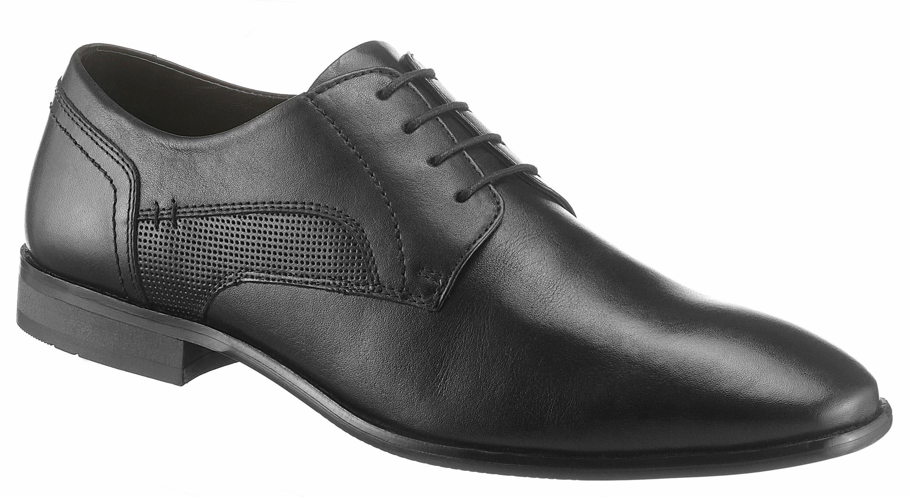 PETROLIO Schnürschuh, mit elegantem Finish kaufen  schwarz