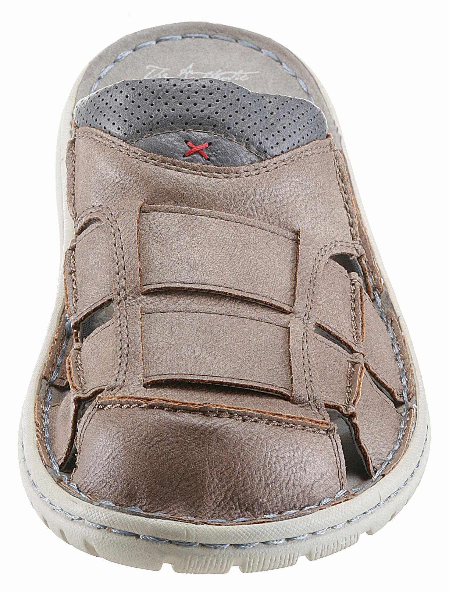 Mustang Shoes Clog, mit Perforierung und Cut-Outs  taupe