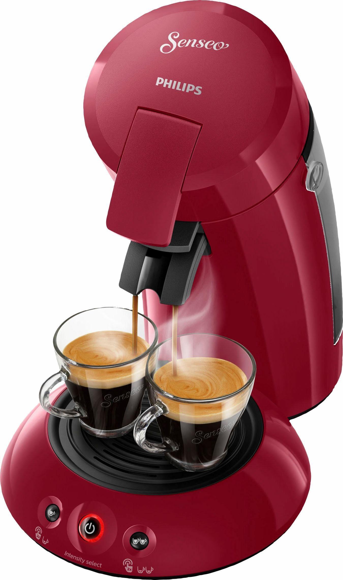 Senseo Kaffeepadmaschine HD6554/90 New Original, mit Crema Plus und Kaffeestärkewahl